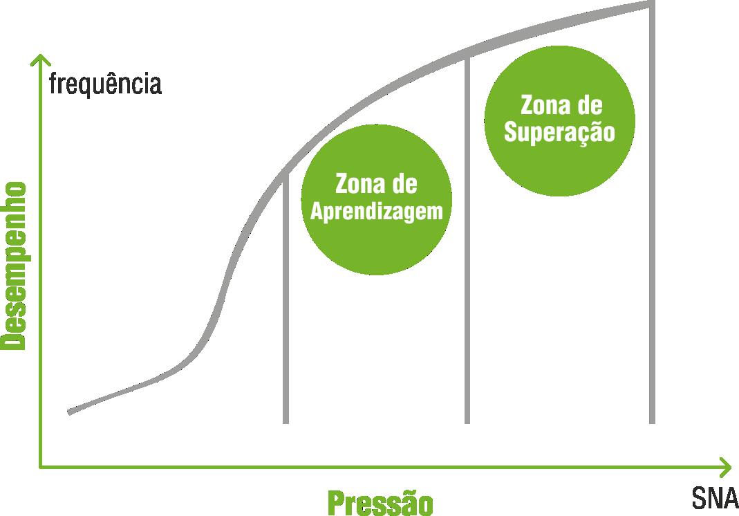 Gráfico de Desempenho das metas e desafios da aprendizagem e superação